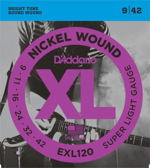 D'Addario EXL120 Nickel Wound Super Light Strings