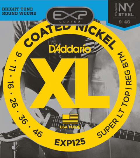 D'Addario EXL125 Nickel Wound Super Light Top/ Regular Bottom Strings