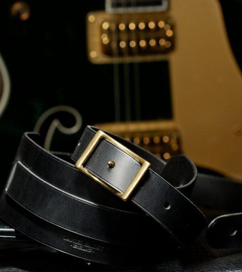 Daniel Bailey Rockingham Handcrafted Guitar Strap – Black/Brass