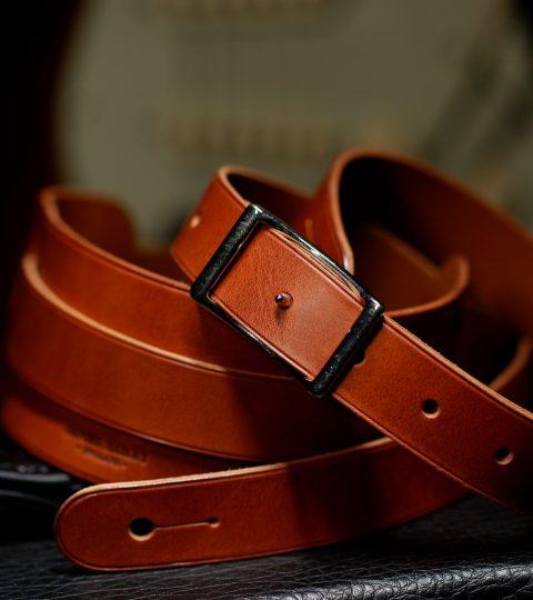 Daniel Bailey Rockingham Handcrafted Guitar Strap – Tan/Nickel