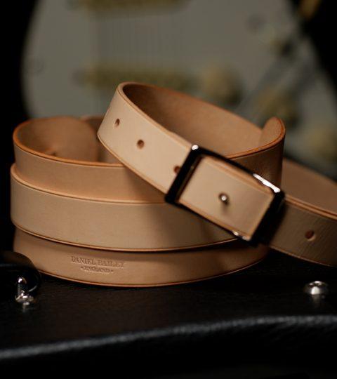 Daniel Bailey Rockingham Handcrafted Guitar Strap – Natural/ Nickel