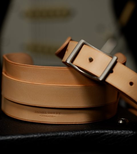 Daniel Bailey Rockingham Handcrafted Guitar Strap – Aged Natural/Aged Nickel